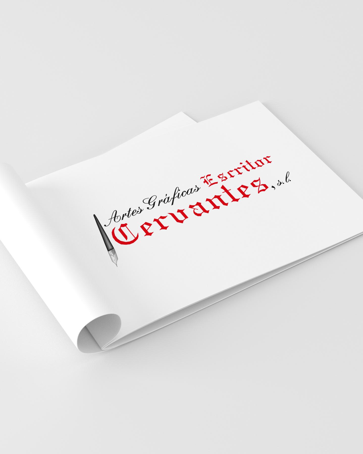 Muestra de logotipos Artes Gráficas Escritor Cervantes