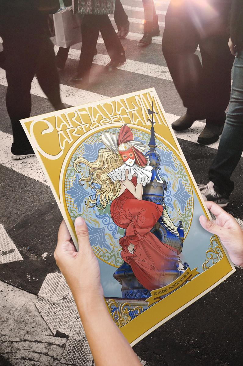 Cartel Ganador Carnavales Cartagena 2017