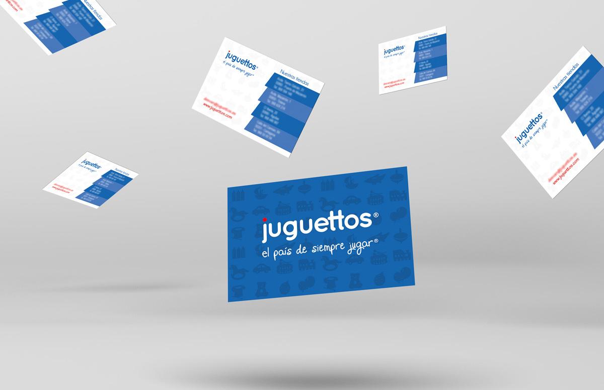 Diseño de tarjetas corporativas Juguettos
