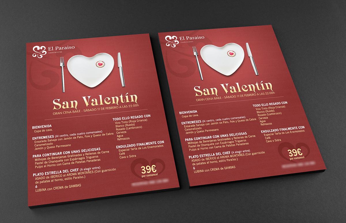 Diseño Menú San Valentín