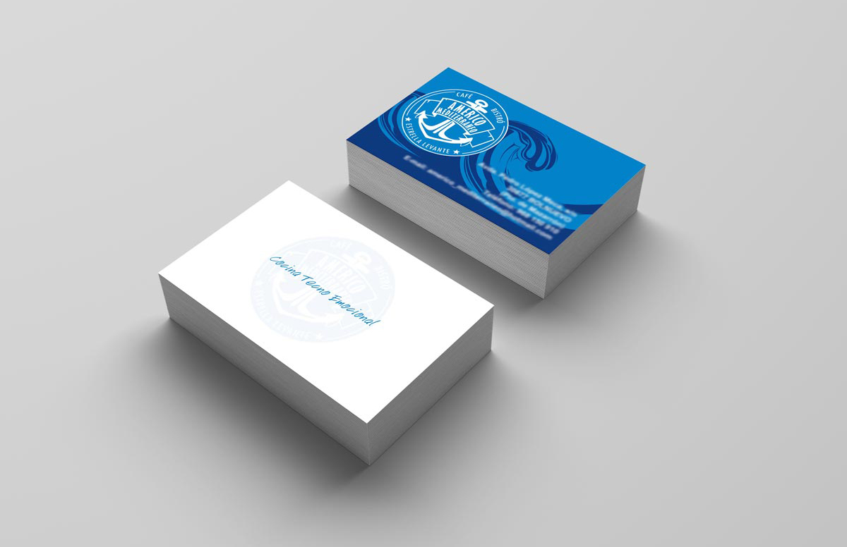 Diseño de tarjetas corporativas Restaurante